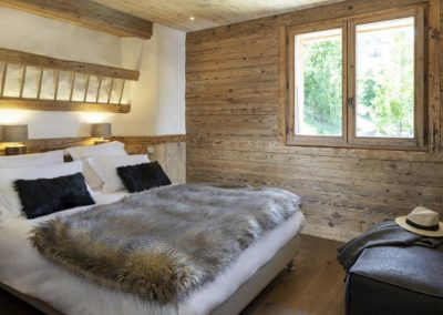 Chambre location chalet luxe grand bornand