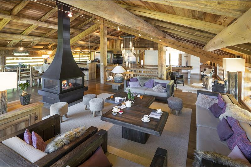 Piece vie grand location chalet luxe grand bornand